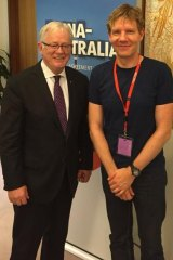"""It's part of my job to raise funds, so I make proposals to whoever I meet"": Dr Lomborg with Trade Minister Andrew Robb."