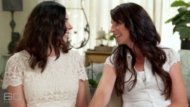 Joanne Lees and her Australian sister Jess on <i>60 Minutes</i>