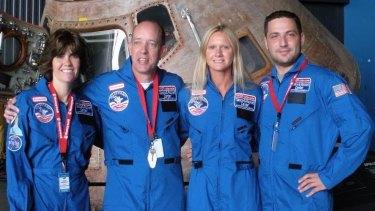 Ken Silburn with teacher colleagues at Space Camp in Huntsville, Alabama.
