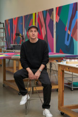Brian Donnelly, aka KAWS, in his Brooklyn studio.