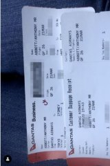 Blogger Alex Hope used the booking reference that was visible on the boarding pass to log in to Qantas' website and was able to view personal details.