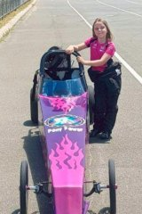 Anita with her customised Pony Power racer.