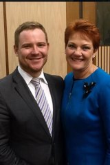 Political lobbyist and One Nation donor Michael Kauter with Pauline Hanson.