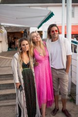 Sasha Benz, Jess Hart and Oliver Benz at The Surf Lodge in Montauk.