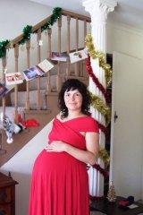 Caroline Lovell when pregnant.