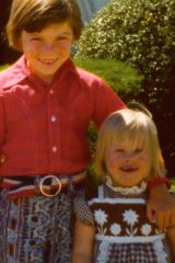 Brian and Kelly as children in upstate New York.