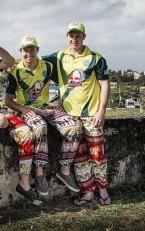 Jack Gibson and Hayden Kerr at Galle Stadium in Sri Lanka.