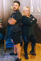 Rebel Wilson with her personal trainer Jono Castano.