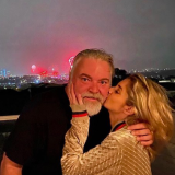 It's official! Kyle Sandilands and his new girlfriend, Tegan Kynaston, have gone public with their relationship - after insisting they were just friends and colleagues.