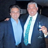 Carlo LoGiudice (left) with Melbourne underworld figure Mick Gatto.