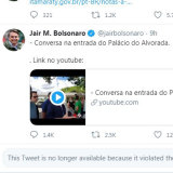 Twitter has blocked two posts by Brazilian President Jair Bolsonaro for violating its COVID-19 rules.