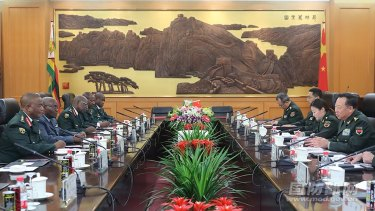 Zimbabwean and Chinese military leaders hold talks in Beijing on November 8. China has had ties to Zimbabwe since the African nation's independence in 1980.