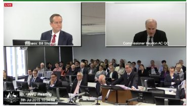 Mr Shorten faces questioning on Wednesday.