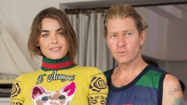 Dan Single with wife Bambi Northwood-Blythe at a NYD party on January 1.