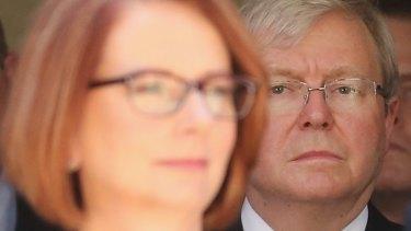 """""""Insubstantial"""": Former Labor prime ministers Julia Gillard Kevin Rudd."""