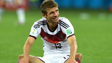 Comedy free-kick: Thomas Mueller.