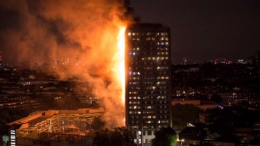 Smoke and flames engulfed Grenfell Tower on Wednesday morning.