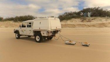 A ground penetrating radar in use on Fraser Island.