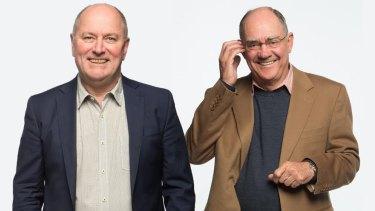 Ratings kings: 3AW's Ross Stevenson and John Burns are Melbourne's most-popular presenters.