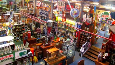 Inside the How Bazaar antique store in Geelong, which was burgled on Thursday.