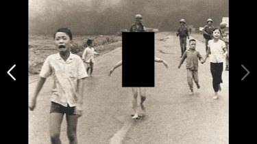 The censored 1972 photograph by Nick Ut.