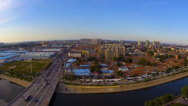 Panoramic view of Tongzhou District, Beijing in September 2014.