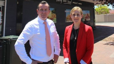 Morley MP Amber-Jade Sanderson, who put the motion calling for an inquiry into euthanasia laws on the notice paper, with Premier Mark McGowan.