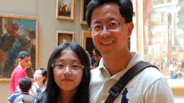 Matthew Ng and his daughter Isabella.
