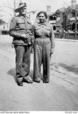 Samuel Lovett, a younger brother, signed up for WWII. He's pictured here with his niece Alice Lovett, who also served. 23 Lovetts in all served in all wars Australia fought right up to Afghanistan.