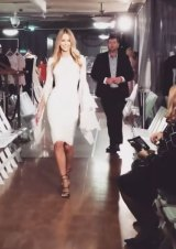 Hawkins was allegedly followed by security as she walked the runway for Myer two weeks ago.