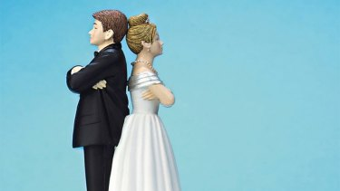 At the lowest rate in 30 years: Divorces are on the way down.