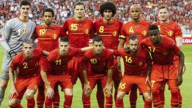 Dark horses: the Belgium team.