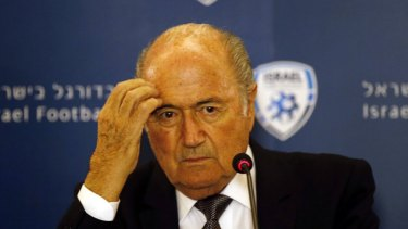 Troubled times: FIFA president Sepp Blatter.