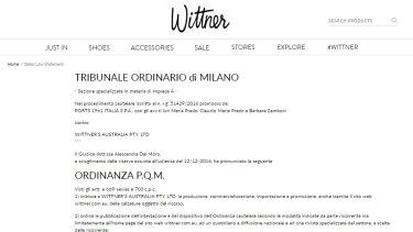 The Italian court statement on Wittner's website.