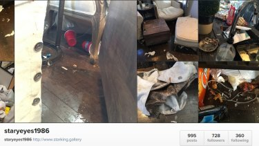 A screenshot of Star King's Instagram account showing the damage to her home.