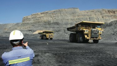 Prize land: Mining at Muswellbrook in the Hunter Valley.