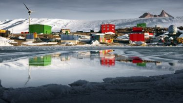 Mawson research station at Horseshoe Harbour.