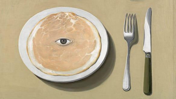 Rene Magritte, The Portrait (detail), 1935. The Museum of Modern Art, New York.
