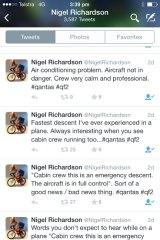 Nigel Richarson's escalating Twitter feed.