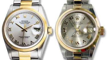 Left Rolex is real. Right Rolex is fake.