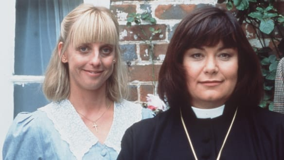 Vicar of Dibley stars: Emma Chambers and Dawn French.