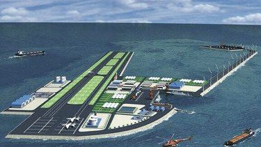 Artificial islands, like this one planned by China, are increasing tensions around the South China Sea.