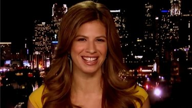 Michelle Fields appearing on Fox News.