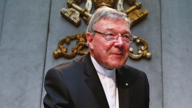 Appointed by Pope Francis to go through the Vatican's accounts: Cardinal George Pell.