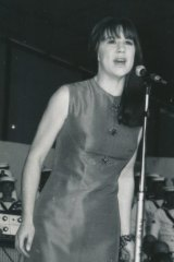 Judith Durham at Sidney Myer Music Bowl in 1967, in the dress she reluctantly parted with.