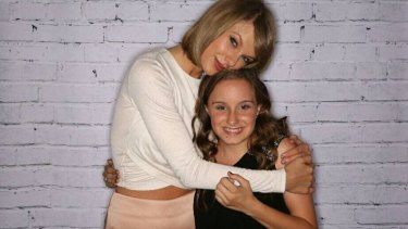 Wildest dream: Maitland schoolgirl Jorja Hope met her idol Taylor Swift in Sydney.