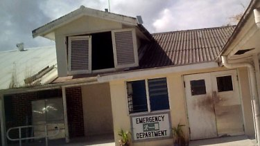In need of repairs: The emergency department of the Nauru hospital.