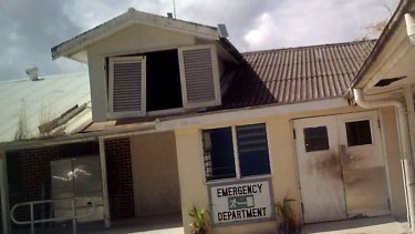 A picture of Nauru hospital supplied by an asylum seeker.