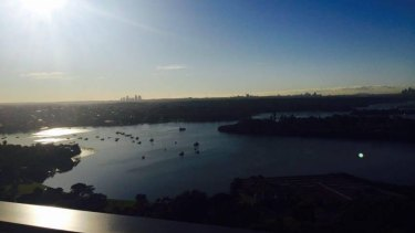 Christine Lee's boyfriend, Vincent King, posted a photo in August showing the view across to Sydney Harbour from their Rhodes unit.