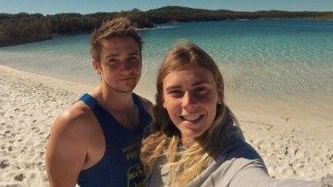 Elly Warren, pictured here with her boyfriend Luke Tempany, was on a trip in Africa when she died.